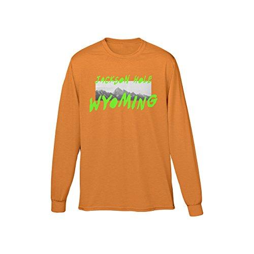 Streetwear Long Sleeve Tee (Medium, Orange) (Streetwear Clothing)