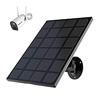 HOSAFE Solar Panel Security Camera Power Supply for Rechargeable Battery Powered Outdoor WiFi Camera ZS-GX6S (Camera not Included)