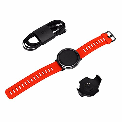For Xiaomi Amazfit Pace GPS Running Sport Smartwatch Movement Record,Black/Red (Red) by Freshzone (Image #1)