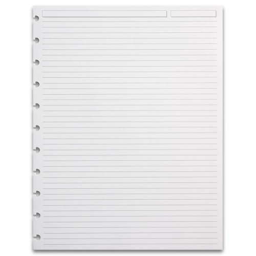 Levenger 300 Circa Full Page 1/4-Inch, Ruled Refill Sheets, LTR (ADS5920 LTR)
