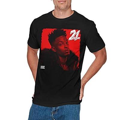 EMILY MORAN Mens Particular 21 Savage T-Shirt Black