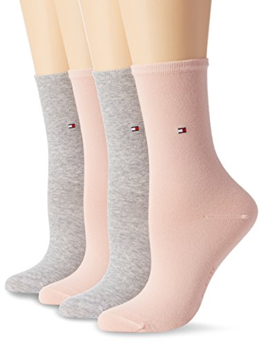 Tommy Hilfiger Damen Socken Th Women Sock Casual 2er Pack, Mehrfarbig (Rose Combo 943), 39