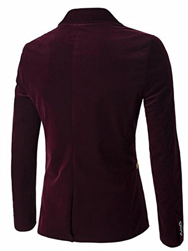 Long today Corduroy UK Red Mens Slim Blazer Jacket Sleeve Fit Wine ggISZxq