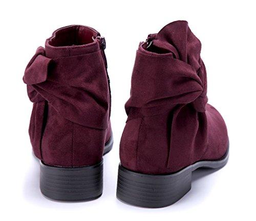 Schuhtempel24 Damen Schuhe Klassische Stiefeletten Stiefel Boots Blockabsatz 3 cm Rot