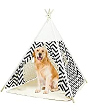 Kids Teepee with Mat for Girls Boys Play Tipi Tent for Playhouse Playroom Decor Best Gift