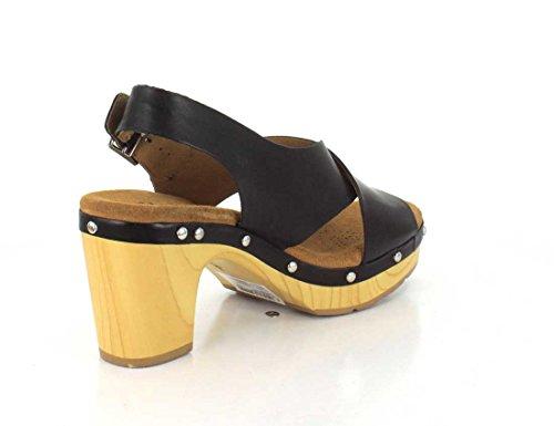 Clarks Ledella Klubb Kvinnor Krängt Slingback Sandaler Svart Läder
