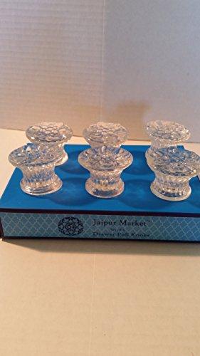 Jaipur Market Set of 6 Crystal Look Drawer Pull Knobs ()