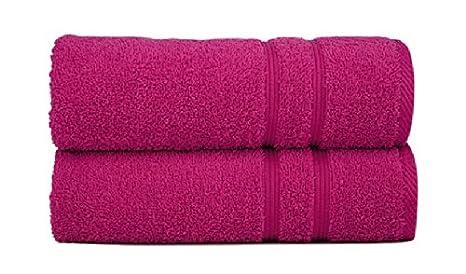 Sorema Basic - Toalla para baño, de algodón, 70 x 140 cm, color fucsia: Amazon.es: Hogar