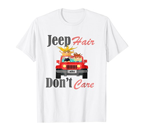 Funny Design Jeep Hair Don't Care T-Shirt, For Men and Women -