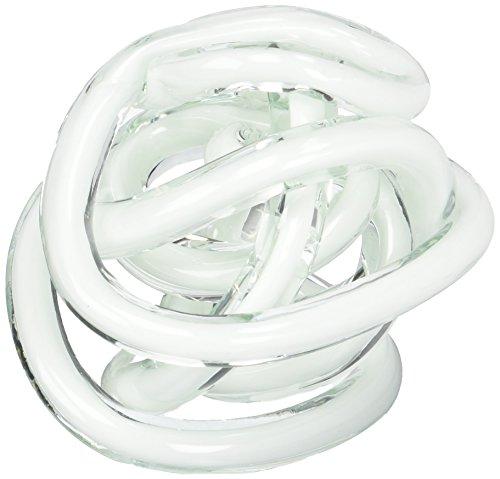- Torre & Tagus 901746B Orbit Glass Decor Ball Large-White