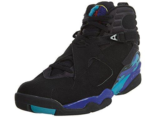 Jordan 8 Mens Retrò Nero / Luminoso Concord-aquatone