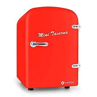 Klarstein Mini Taverna 4L - Nevera portátil (Rojo, 220-240 ...