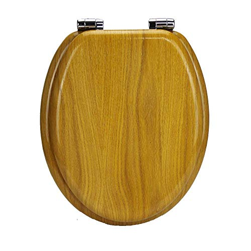 - Toilet Lid & Tank Covers Toilet Seat Oak Veneer Toilet Lid With Ultra Resistant Top Fixed Thickened V/U/O Shape Universal Solid Wood Toilet Seat Cover Bathroom Lid For Family Use Anti-Bacterial Toilet