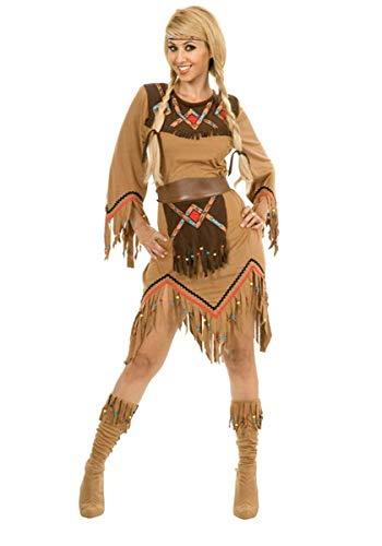 Sacajawea Indian Maiden Adult Costume(Medium-As Shown) -