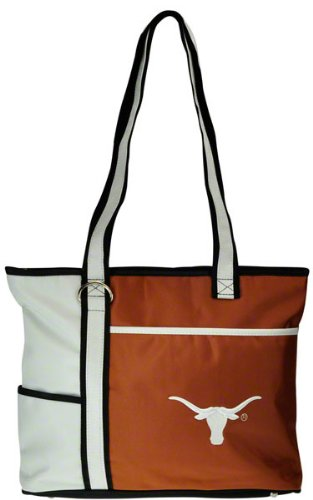 Charm14 NCAA Texas Longhorns Tote Bag with Embroidered (Texas Longhorns Large Tote)