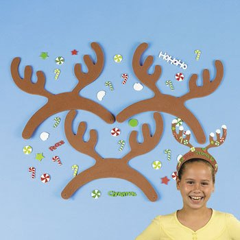 Reindeer Hat Craft - Fabulous Foam Reindeer Antlers With Stickers - Crafts for Kids & Hats & Masks