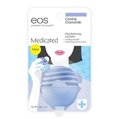 EOS Cooling Chamomile Medicated Lip Balm (Pack of 3)