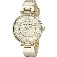 Anne Klein Women's AK/1012GMGD Leather Gold-Tone Snake Print Watch