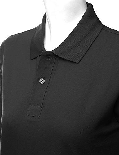 46177d26e37 Xpril Women's cotton PK Silket Polo Dri Fit Long sleeve Collar T Shirt