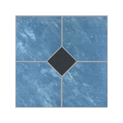 Home Dynamix 23057 Dynamix Vinyl Tile, 12 by 12-Inch, Blue, Box of 30