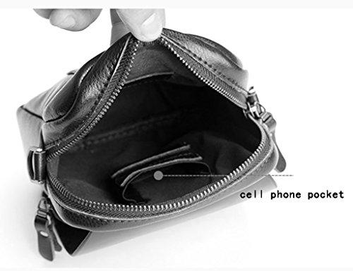 Del Ocasionales Del de Cintura La Del Bolso Marrón Teléfono Hombres De Bolsa Cuero Masculino Color hombres De Mensajero Bolso Los Mochila Mini De Hombres Paquete De De Bolso ZCJB La Negro Bolso vgTd4Uq