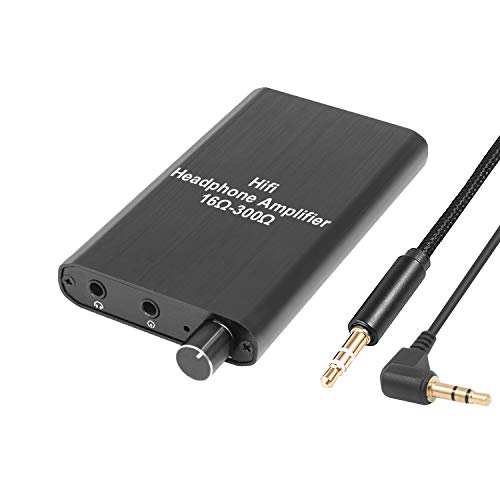 Headphone Amplifier, Portable Headphone amp 3.5mm Stereo Audio Out, Powered Dual-Output with Lithium Battery and 2-Level Boost,Headphone Amplifier for iPhone, iPod, iPad,MP3,MP4 and Computers