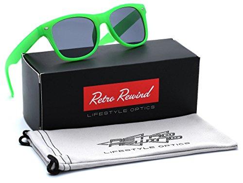Kids Neon Classic Sunglasses Age 3-12 - Lime