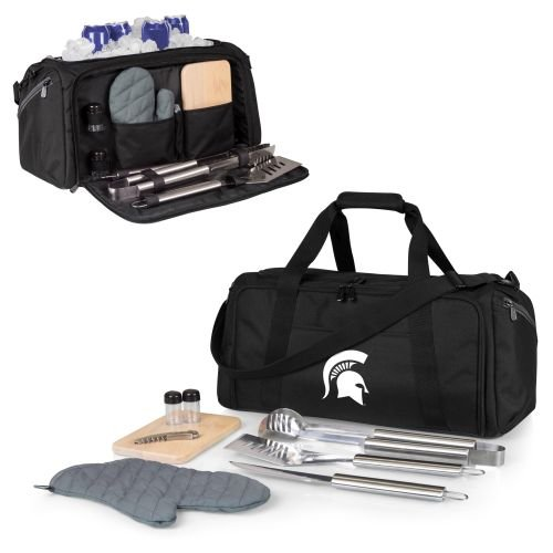 - PICNIC TIME NCAA Michigan State Spartans BBQ Kit Cooler Tote with Barbecue & Accessories