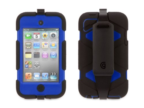 Griffin Black/Blue Survivor All-Terrain Case for iPod Touch 4th Gen - Extreme-duty case for iPod touch 4th gen.