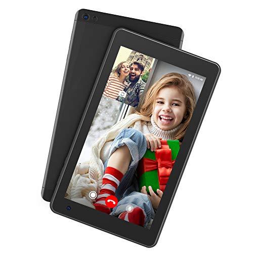 Dragon Touch M7 Tablet Android 9.0 Tablet 7 Pulgadas 1024x600 HD IPS Procesador Quad Core 2GB RAM 16GB ROM WiFi Bluetooth Doble Cámara Negro