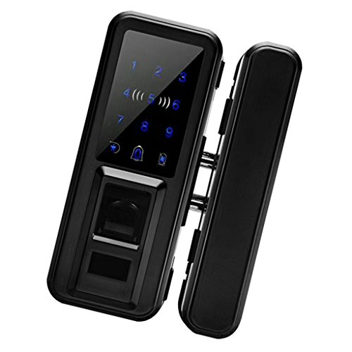 Fityle 500 Group Keyless Lock Touchscreen Deadbolt Lock Anti Peep, Keyless Lock Smart Code Door Lock Keypad Card Smart Digital Keyless Security - Black by Fityle