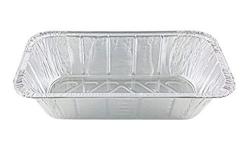 Handi-Foil of America Hfa 1/3 Third-Size Deep Aluminum Foil Steam / 5 lb Loaf Pan w/Foil Lids (Pack of 50 Sets) by Handi-Foil (Image #4)