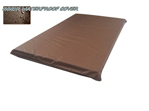 American Comfort Warehouse 2 Quantity of 45''x27''x3'' / 48''x29'' Large size Brown Full Waterproof Dog Bed Liner - Internal Cover Case by American Comfort Warehouse