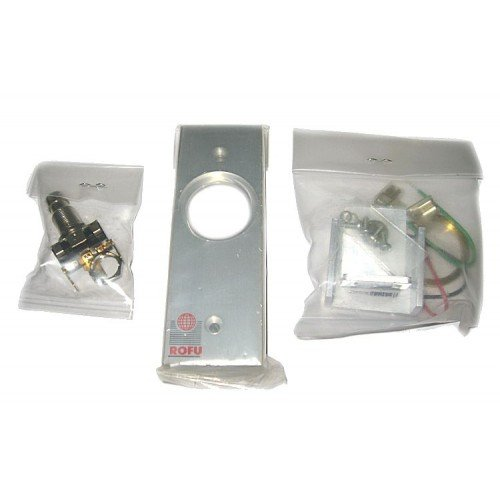 Rofu 9220 US28 Key Switches SPDT Without Cylinder, Narrow Plate, Mullion Mounting, Momentary, 1.63