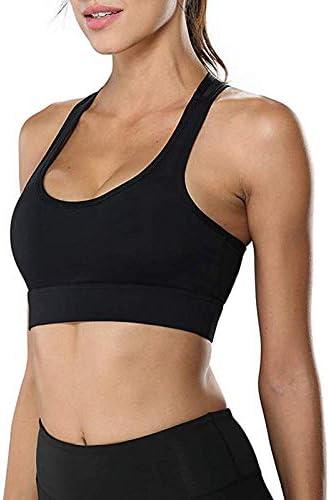 Litthing Damen Sport BH Bequem Frauen Bustier Push Up und Abnehmbare Brustauflage