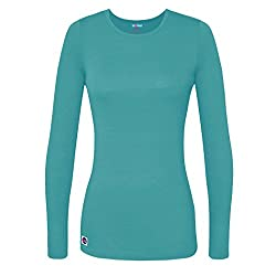 Sivvan Women's Comfort Long Sleeve T-shirtunderscrub Tee - S8500 - Aqm - Xl