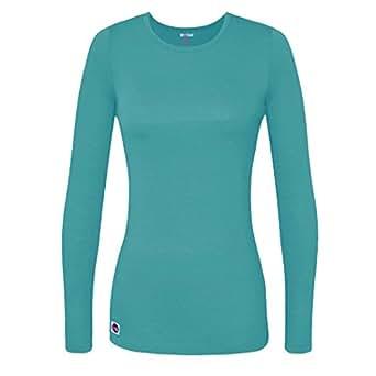 Sivvan Women's Comfort Long Sleeve T-Shirt/Underscrub Tee - S8500 - AQM - XXS