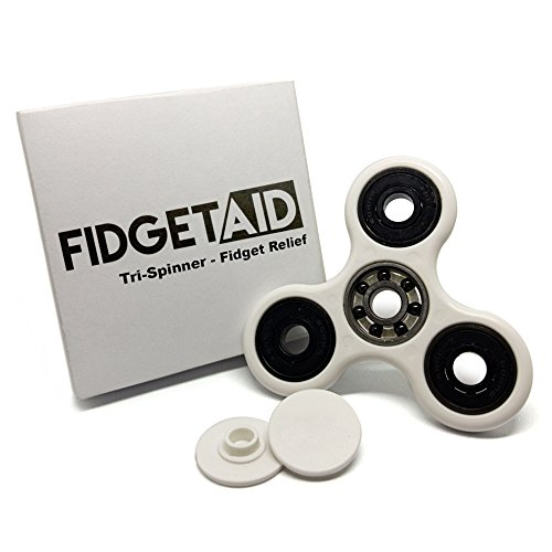 Fidget Aid's Upgraded Fidget Spinner - Perfect Relief for Restless Hands - Durable POM Plastic Frame - Upgraded Si3N4 Hybrid Ceramic Bearing