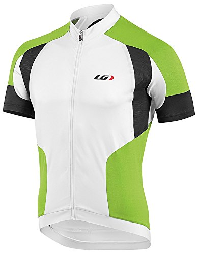 Louis Garneau Icefit Cycling Jersey White/Green-X-Small ()