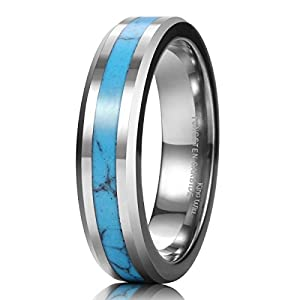 King Will NATURE Men Women Tungsten Carbide Ring Blue