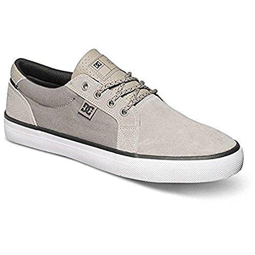 Skate Council Skateboarding Shoe DC Signature Grey White Men's Grey wgtTnP