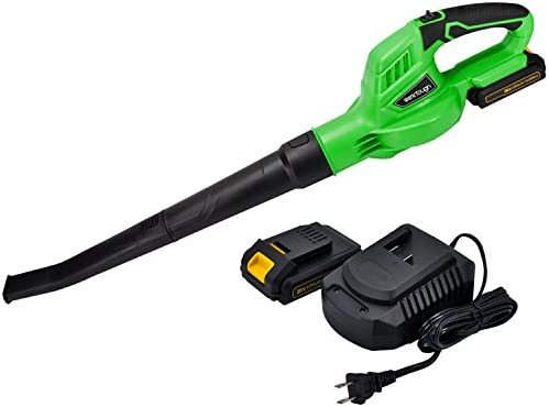 20V Cordless Blower with 2.0A Platform Battery and Charger Uniteco Leaf Blower, Sweeper B001