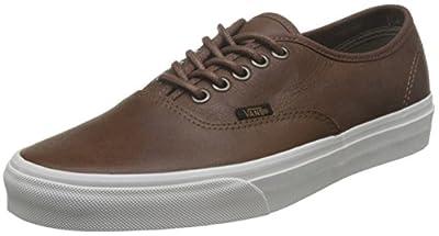 Vans Unisex-Adult Authentic Shoes, Size: 5.5 D(M) US Mens/7 B(M) US Womens, Color (Leather) Dachshund/Potting Soil