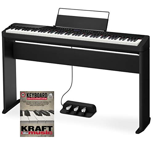 Casio Privia PX-S3000 Digital Piano – Black with Stand, Triple Pedal, and Lesson Book