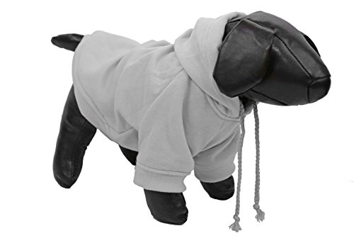 Pet Life American Classic' Designer Fashion Plush Cotton Pet Dog Hooded Sweater Hoodie, Large, Grey by Pet Life