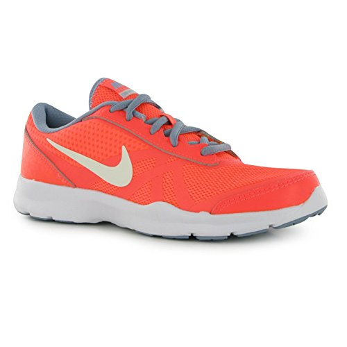 NIKE Core Motion en maille Formation Chaussures Femme Mangue/Platine Gym formateurs Sneakers