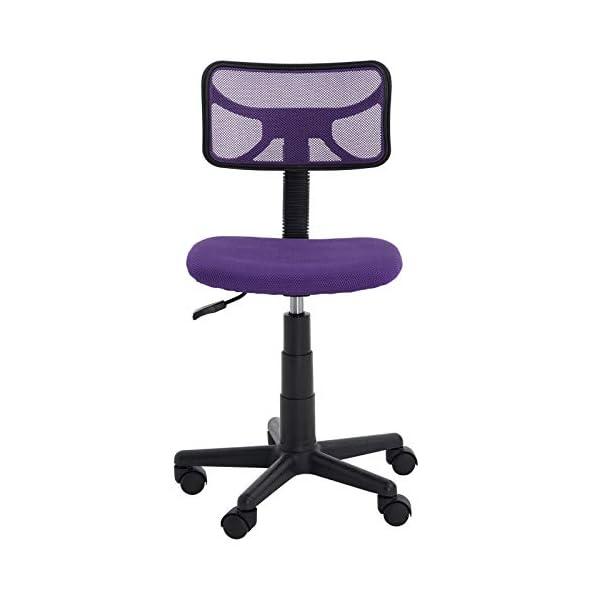 IDIMEX Chaise de Bureau pour Enfant Milan Fauteuil pivotant et Ergonomique sans accoudoirs, siège à roulettes avec…