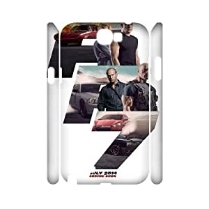 Qxhu fast and furious Protective Snap On Hard Plastic Case for Samsung Galaxy Note2 N7100 3D case