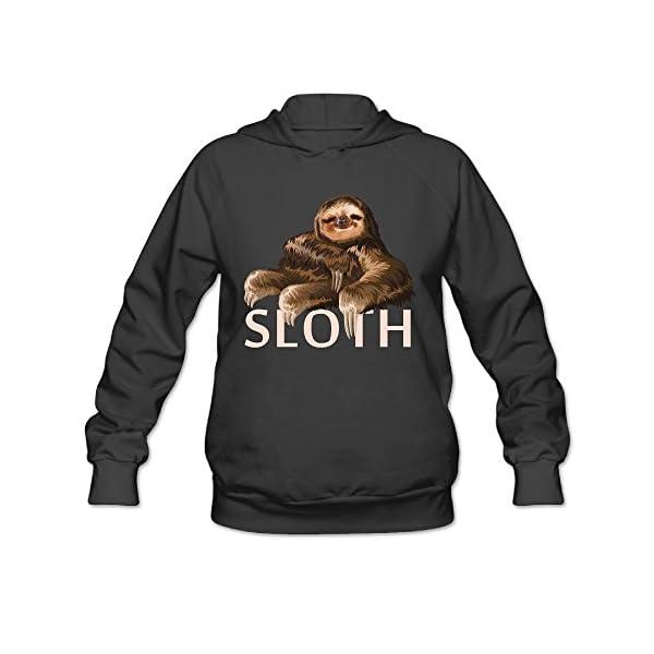 Sloth Boutique382 Sloth Womens Organic Cotton T-Shirt Hoodies Slim Fit -