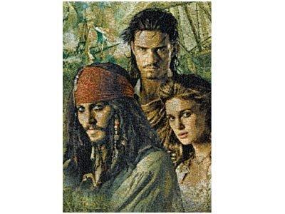 Pirates of the Caribbean Photomosaic Pirates Group Jigsaw Puzzle, 300pc